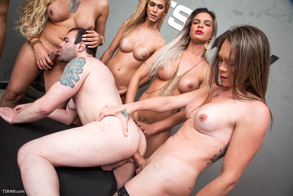 All Holes Filled With Raw TGirl Tool