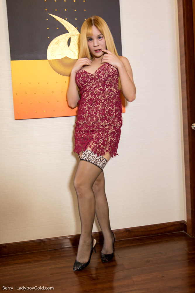 Blonde In Slutwear Bare Back