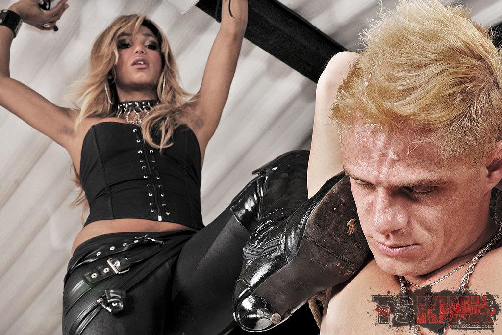 Dominant Ladyboy Treats Her Slave Bad