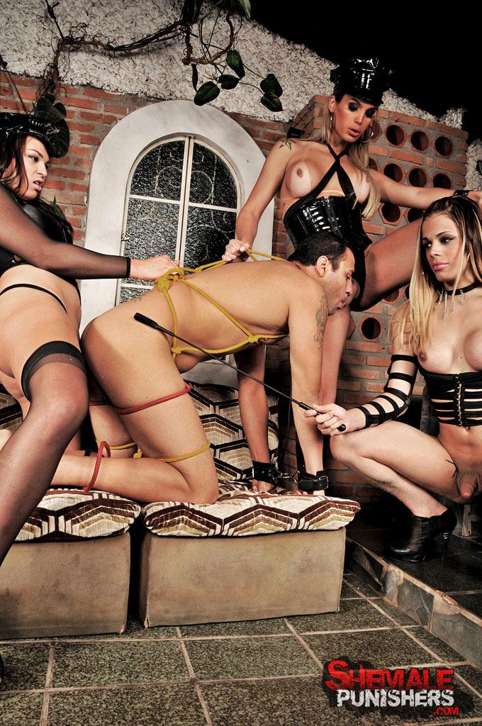 Kinky TGirl Domination Gangbang