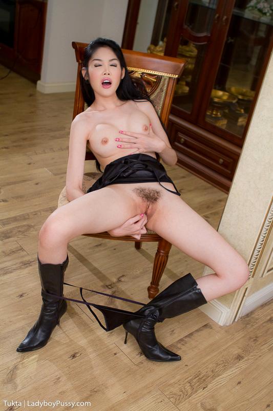 Long Leg Post Op Tukta In Black Boots And Horny Black Skirt