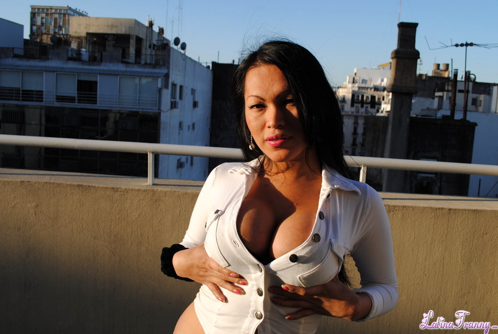 Massive Titted Teresa Teasing On The Balcony