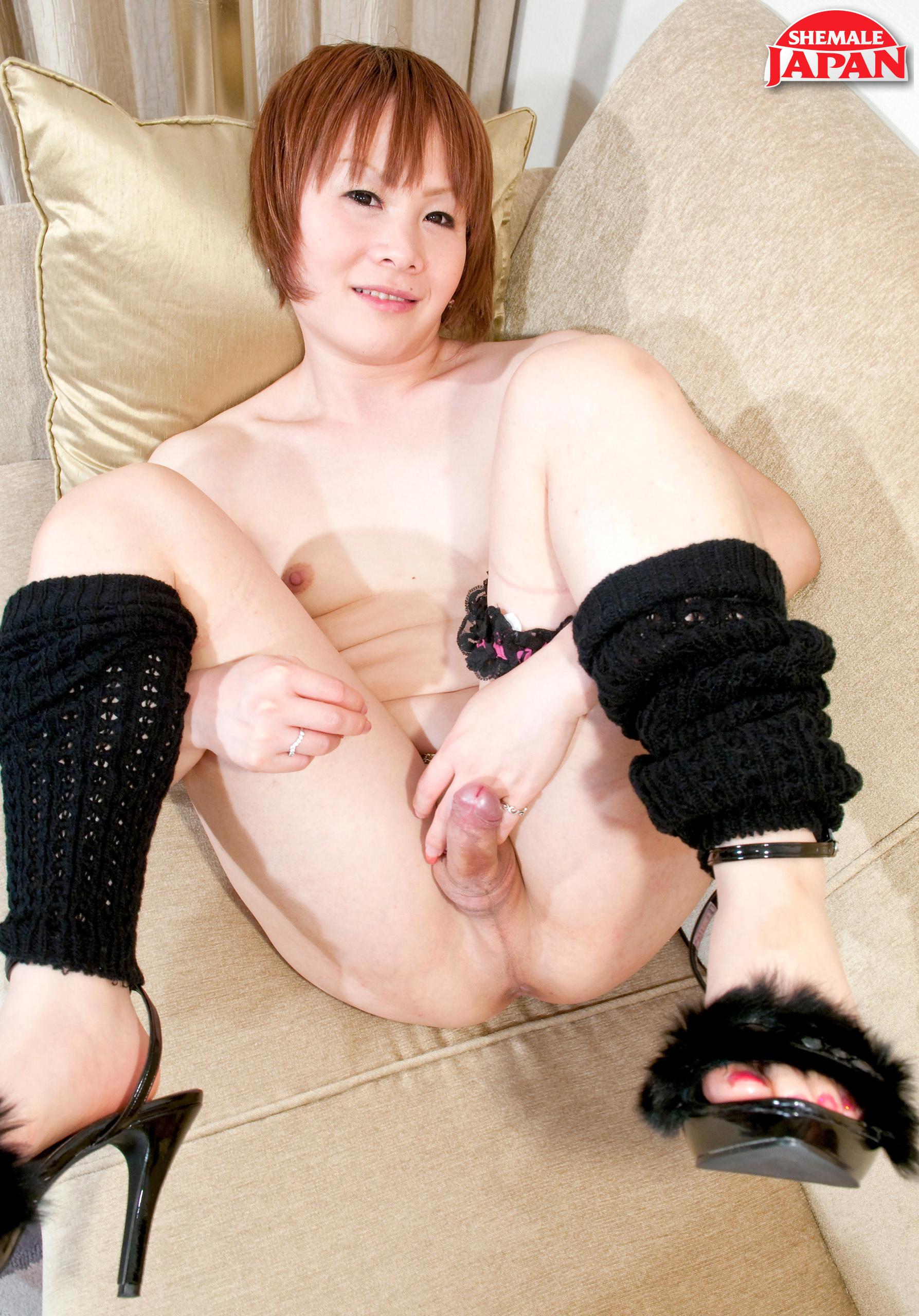 Runa Utsuki Stroke's Her Cock!