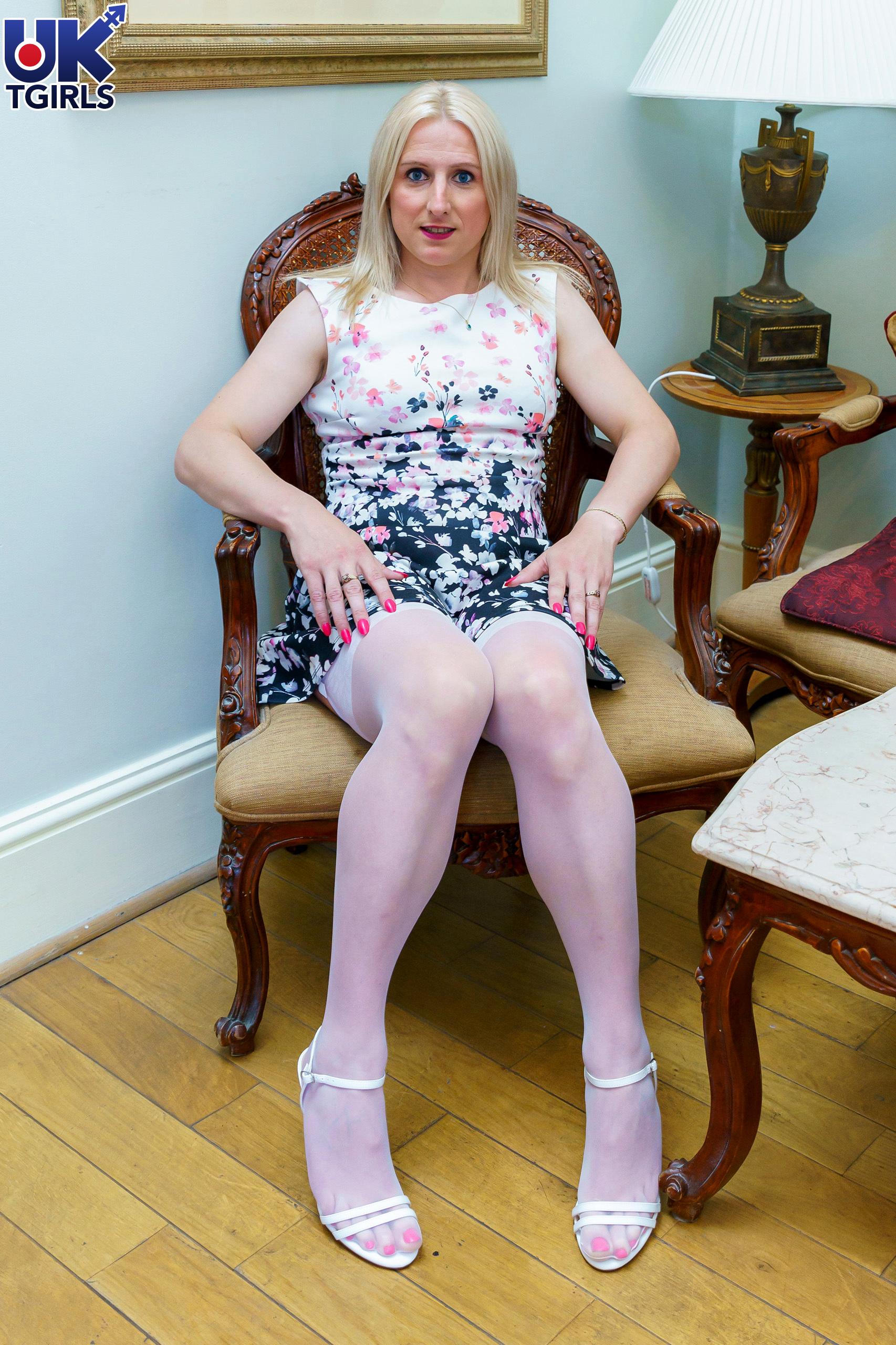 Sitting Nice In Pink Lingeri