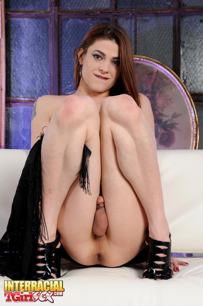 Slutty TGirl Kimberly Sitting On A Big Sextoy