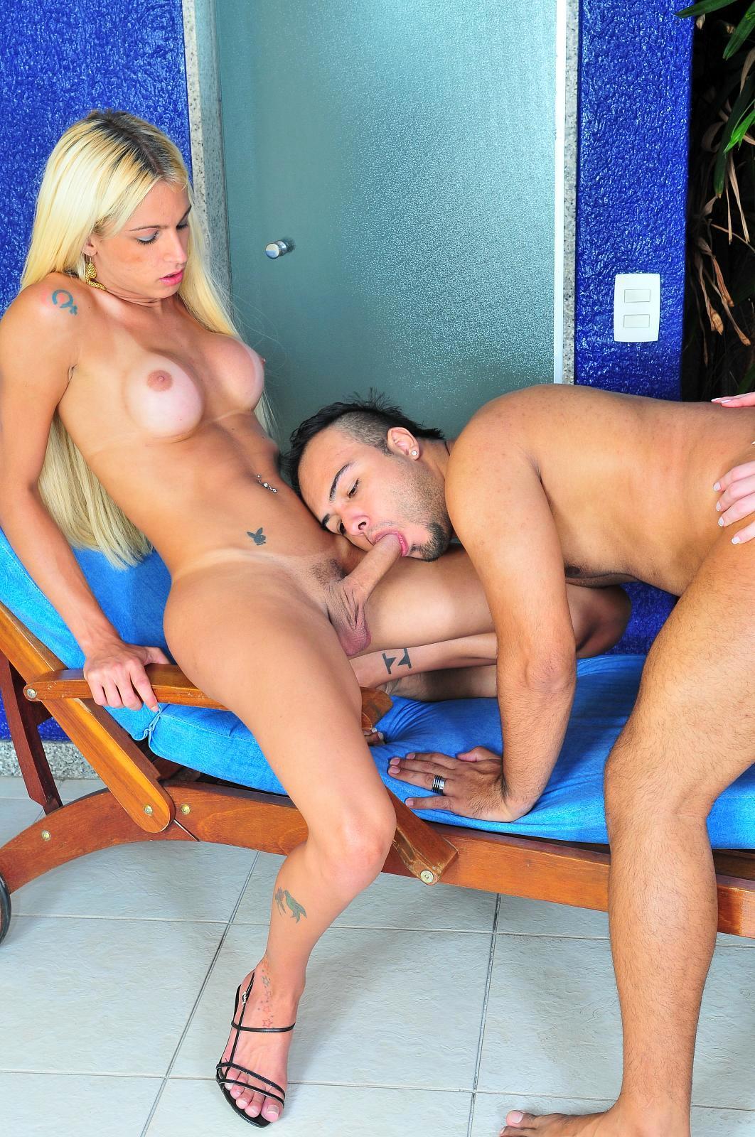 Spicy Ladyboy Ana Paula And Dany De Castro Double Team Dude By