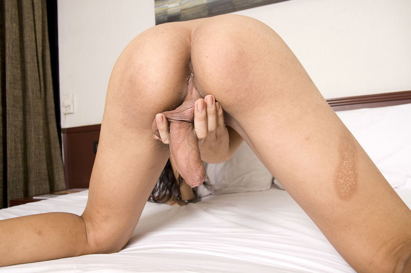 T-Girl Fon Has A Natural Body And Desires To Spunk