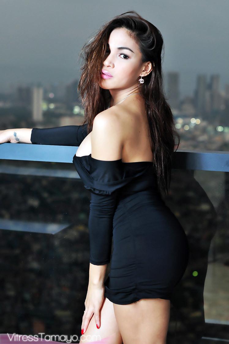 Transchick Vitress Tamayo Cumming Rough In Her Black Skirt